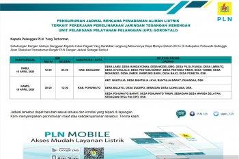 Jadwal pemadaman aliran listrik UP3 Gorontalo