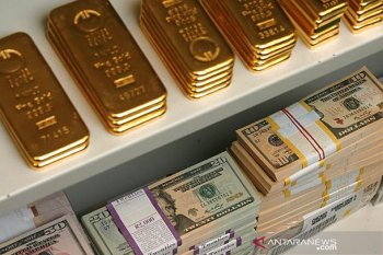 Emas turun 16 dolar AS karena aksi ambil untung ketika Wall Street menguat