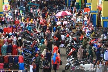 Suasana Pasar Tengah Pontianak Jelang Lebaran