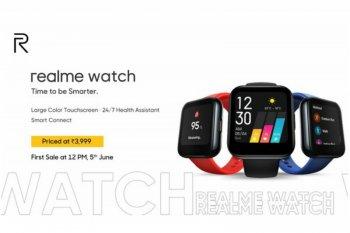 Merk ponsel Realme luncurkan jam tangan pintar perdana