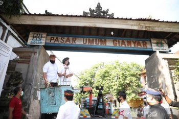 Bupati pimpin pembongkaran Pasar Gianyar
