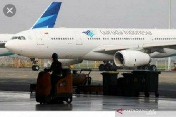 Pendapatan Garuda anjlok 90 persen, 70 persen  pesawat dikandangkan