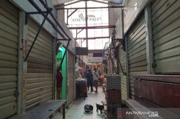 Pasar ditutup setelah 41 pedagang positif terpapar corona