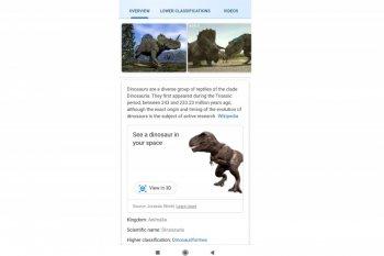 Nyaris mirip aslinya, Google bisa digunakan untuk melihat dinosaurus