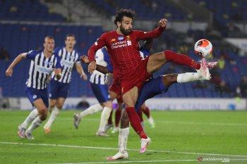 Liverpool bekuk Brighton, Mo Salah dua gol dan satu assist