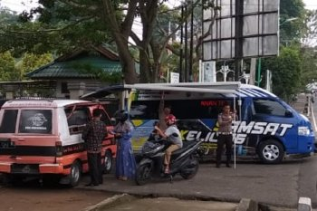 Samsat Keliling di Depan GOR Kotabaru
