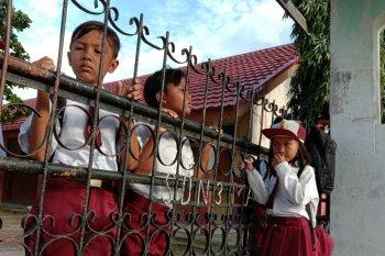 Hari pertama masuk sekolah di Lampung Timur