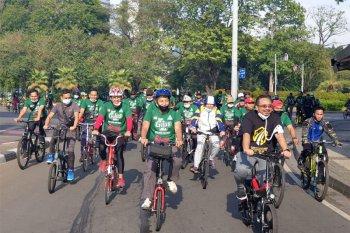 Perkuat Imunitas, Ratusan Kader Ansor Gowes Keliling Jakarta
