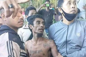Bapak pembunuh dua anak kandungnya ini berhasil ditangkap