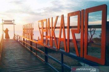 Pantai Sipakario Penajam sepi pengunjung sejak mewabahnya virus Corona