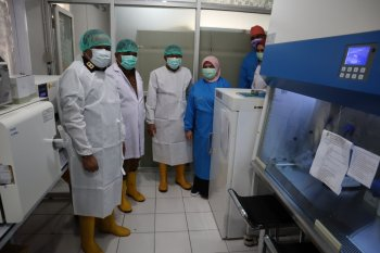 GTPP COVID-19 Malut serahkan mesin PCR ke RSUD Chasan Boesoirie