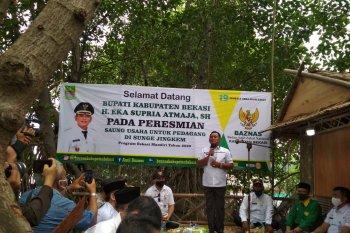 Bupati Bekasi resmikan saung UMKM di Ekowisata Sungai Jingkem