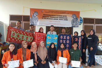 Motif Batik Jambi berbasis arkeologi hadir, Unja dan Pertamina mengembangkanya