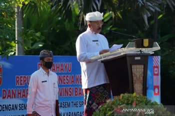 Pemkab Karangasem peringati Hari Jadi Ke-62 Provinsi Bali secara sederhana