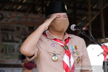 Bupati Mahulu pimpin upacara HUT Pramuka