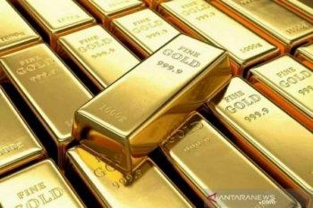 Harga Emas anjlok lagi, tertekan penguatan dolar AS dan kekhawatiran stimulus