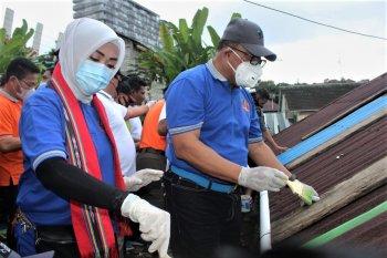 """Sebanyak 700 rumah warga Tantui jadi """"Kampung Pelangi"""""""