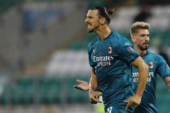 Ibrahimovic antar Milan lolos ke putaran tiga kualifikasi Liga Europa
