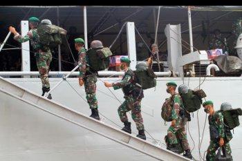 Pemulangan satgas pamtas RI - Malaysia