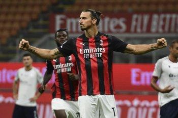 Milan kalahkan Bologna 2-0 berkat gol Ibra (video)