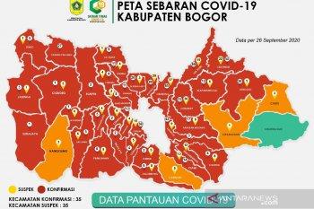 Penambahan kasus baru COVID-19 di Kabupaten Bogor sebanyak 57 kasus