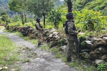 Tim gabungan olah TKP penembakan pendeta dan anggota TNI di Intan Jaya