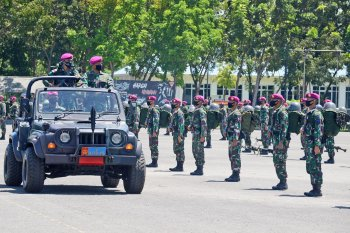 Komandan Brigif 2 Marinir sambut kedatangan prajurit Satgasmar Ambalat XXV