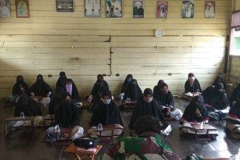 Satgas TMMD Kodim 1015/Spt beri penyuluhan Wasbang di Pontren Darul Iman