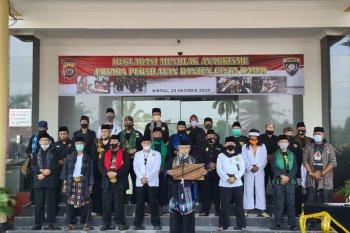 100 perguruan se-Banten persilatan deklarasi tolak anarkisme di Mapolda Banten
