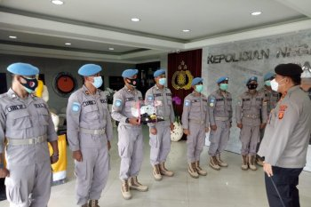 Delapan polisi pulang ke Bali usai misi ke Afrika Tengah