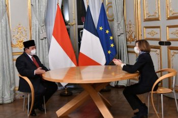 Menhan RI dan Menhan Prancis pererat kerja sama sektor pertahanan