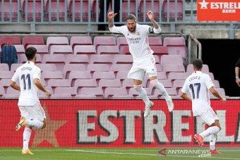Liga Spanyol - Real Madrid kalahkan Barcelona 3-1. Sergio Ramos sumbang satu gol lewat penalti