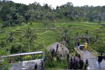 Suasana obyek wisata saat liburan Maulid Nabi SAW
