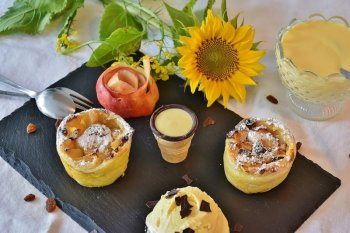 Menu Muffin apel untuk sarapan berprotein esok hari