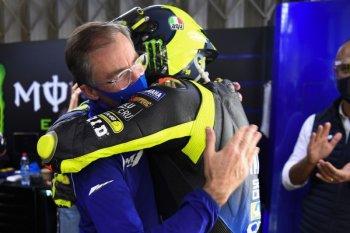 Perpisahan emosional Rossi dengan tim pabrikan Yamaha
