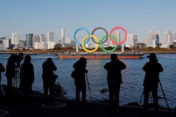 Cincin Olimpiade raksasa sudah dipasang lagi di Tokyo