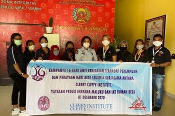 CCI- LKS Rumah Beta Maluku - YPIM berbagi dengan napi perempuan di hari AIDS