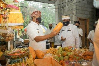 Di Guyur hujan, Bupati Gianyar resmikan pasar Puaya Sukawati
