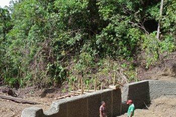 Kelompok tani Mukomuko selesaikan pembangunan embung