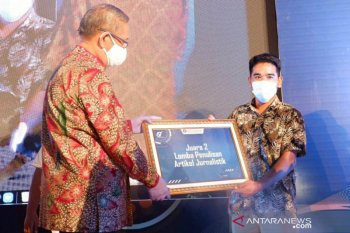 Pewarta Antara Biro Kalbar raih juara II lomba penulisan Bank Indonesia