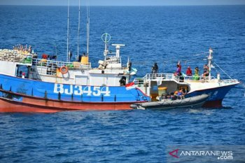 KIA asal Taiwan saat ditangkap di laut Natuna