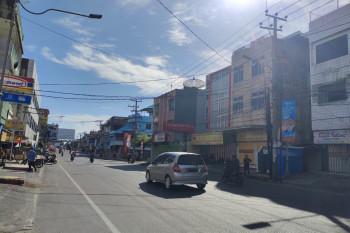 Jalan protokol di Bandarlampung saat PPKM Darurat