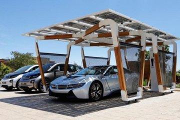 BMW kembangkan stasiun isi ulang panel solar