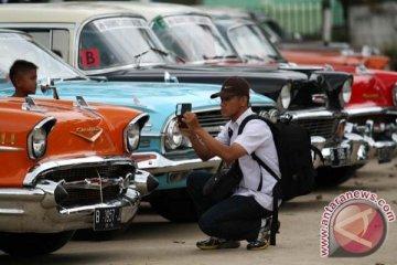 120 mobil kuno ikuti reli di Magelang
