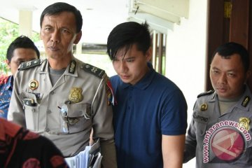 Tersangka insiden Lamborghini dibui di Polrestabes Surabaya