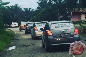 Ekspedisi Datsun libas jalur ekstrem Kalimantan selama 11 jam