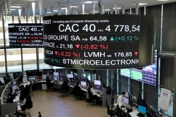 Bursa Perancis menguat, namun Peugeot catat kerugian terbesar