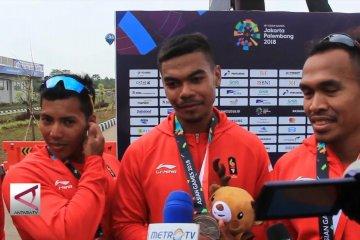 Perak untuk Indonesia dari perahu naga 1.000 m putra