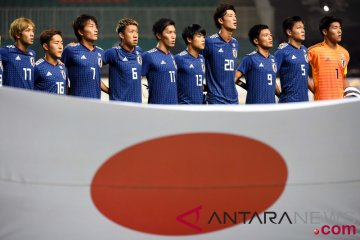 Timnas Jepang menanti pertandingan melawan Korsel