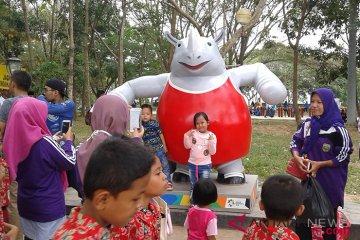 Kawasan Jakabaring Sport City tetap ramai didatangi pengunjung